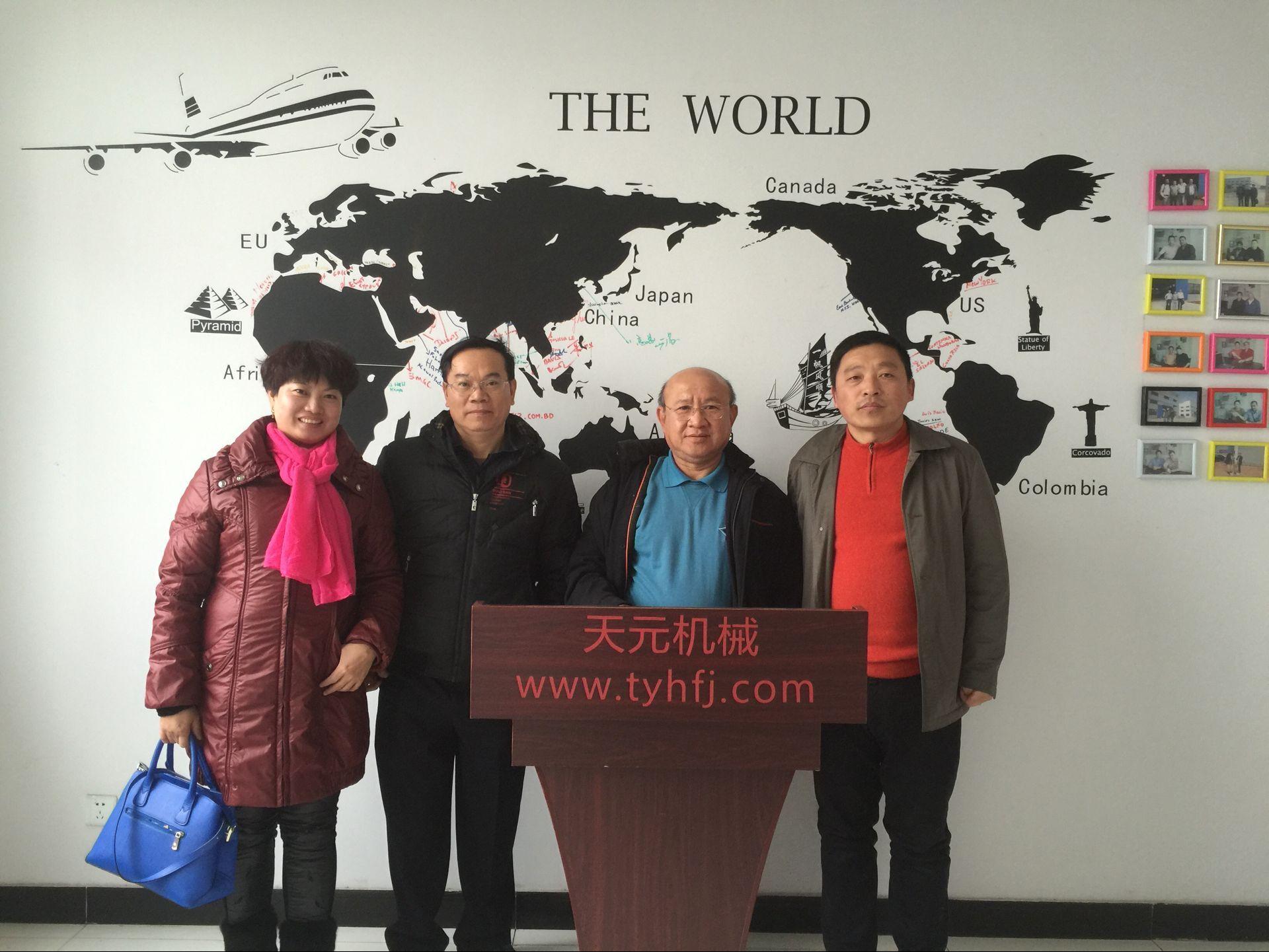 2016年1月18日泰国客户来厂洽谈无胶棉设备