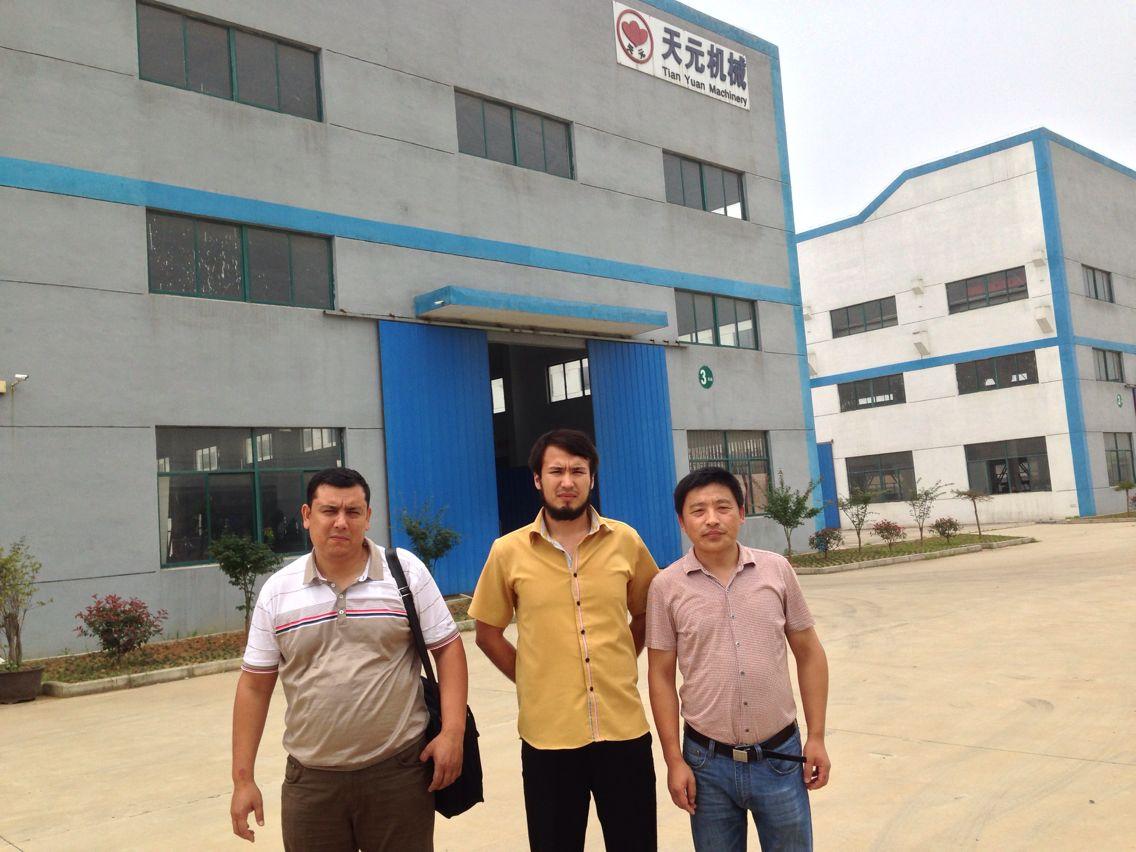 乌兹别克斯坦客户验机ZCM-1型针刺棉生产线