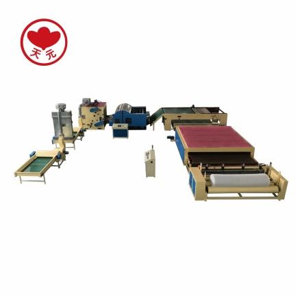 WJM-3无胶棉生产线(电加热)+被褥装套组合型设备