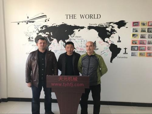 2017年3月2日,乌兹别克斯坦客户来厂参观,欲购买针刺棉设备